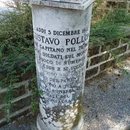 IL CIPPO FUNERARIO DEL CAPITANO GUSTAVO POLLONE