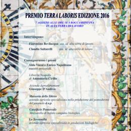 """PRIMA EDIZIONE PREMIO """"TERRA LABORIS"""" 2016"""