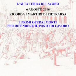 ALTA TERRA DI LAVORO RICORDA I MARTIRI DI PIETRARSA