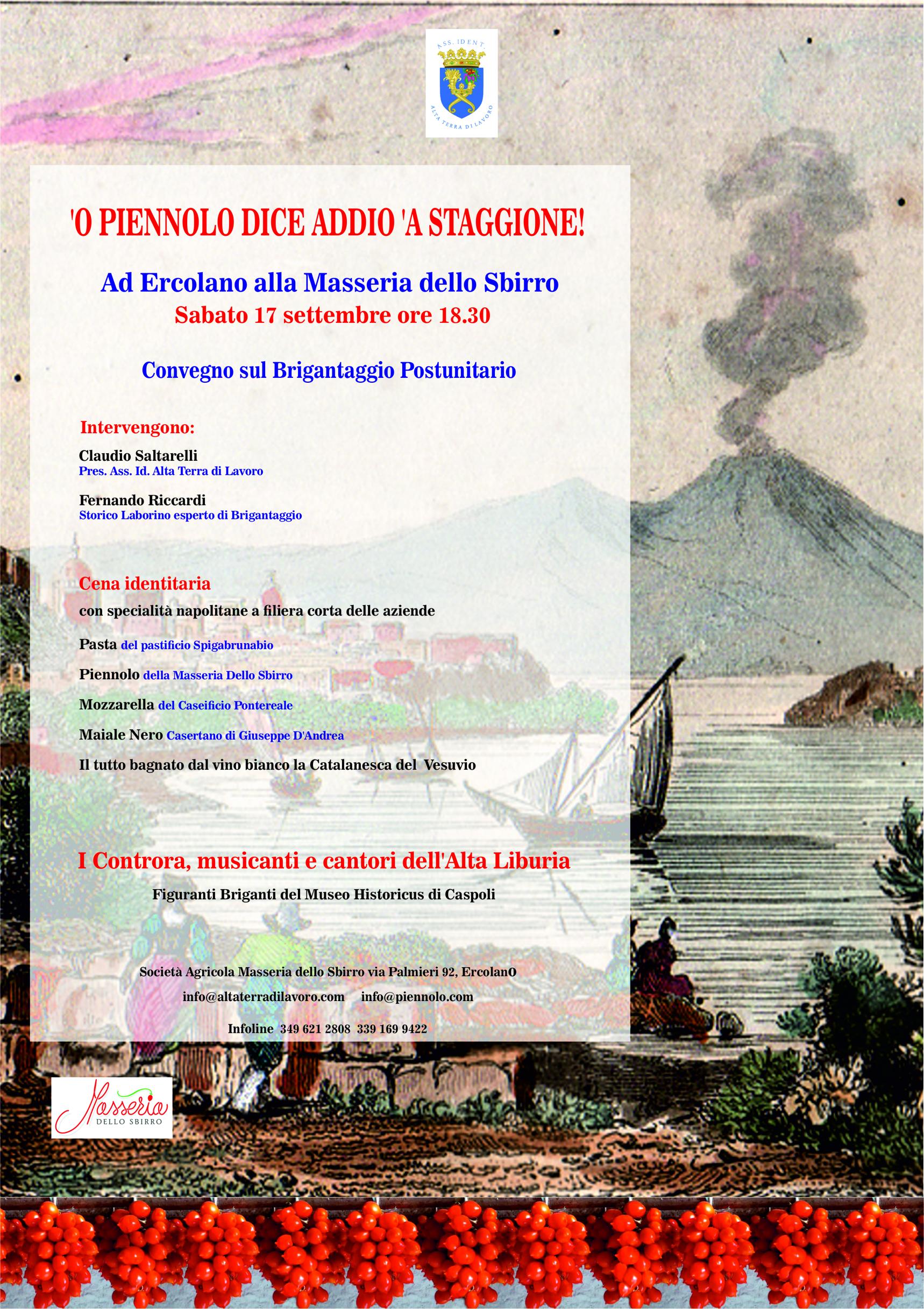 traduzione dall'italiano al napoletano curata da Luciano Salera. Manifesto realizzato da Luciano Caira