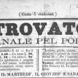LU TROVATORE Giovedì 18 jennaro 1866