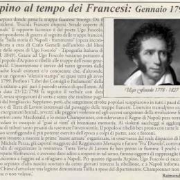 Arpino al tempo dei Francesi, Gennaio 1799