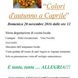 "20 Novembre 2016 a Caprile i ""Colori d'Autunno"""