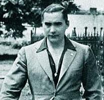 Alfredo Saccoccio a spasso con Curzio Malaparte