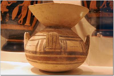 Terracotta funnel vase