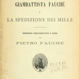Pietro Fauché – Appendici II e III La Spedizione dei Mille