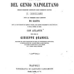 I lavori del Genio Napoletano- Garigliano, Gaeta, ecc.