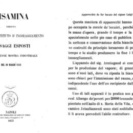 La prima lavatrice in Italia fu opera dei Borbone: poteva lavare 2000 lenzuola