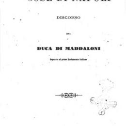 Il Duca di Maddaloni all'On.Giuseppe Massari-aprile 1861