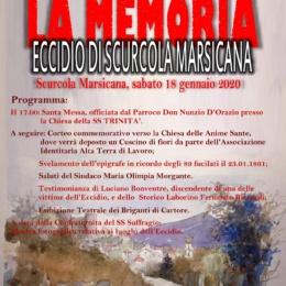 Commemorazione a Scurcola Marsicana, 18 gennaio 2020