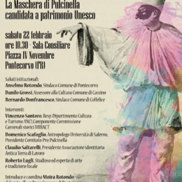 PULCINELLA OSPITE AL CARNEVALE DI PONTECORVO