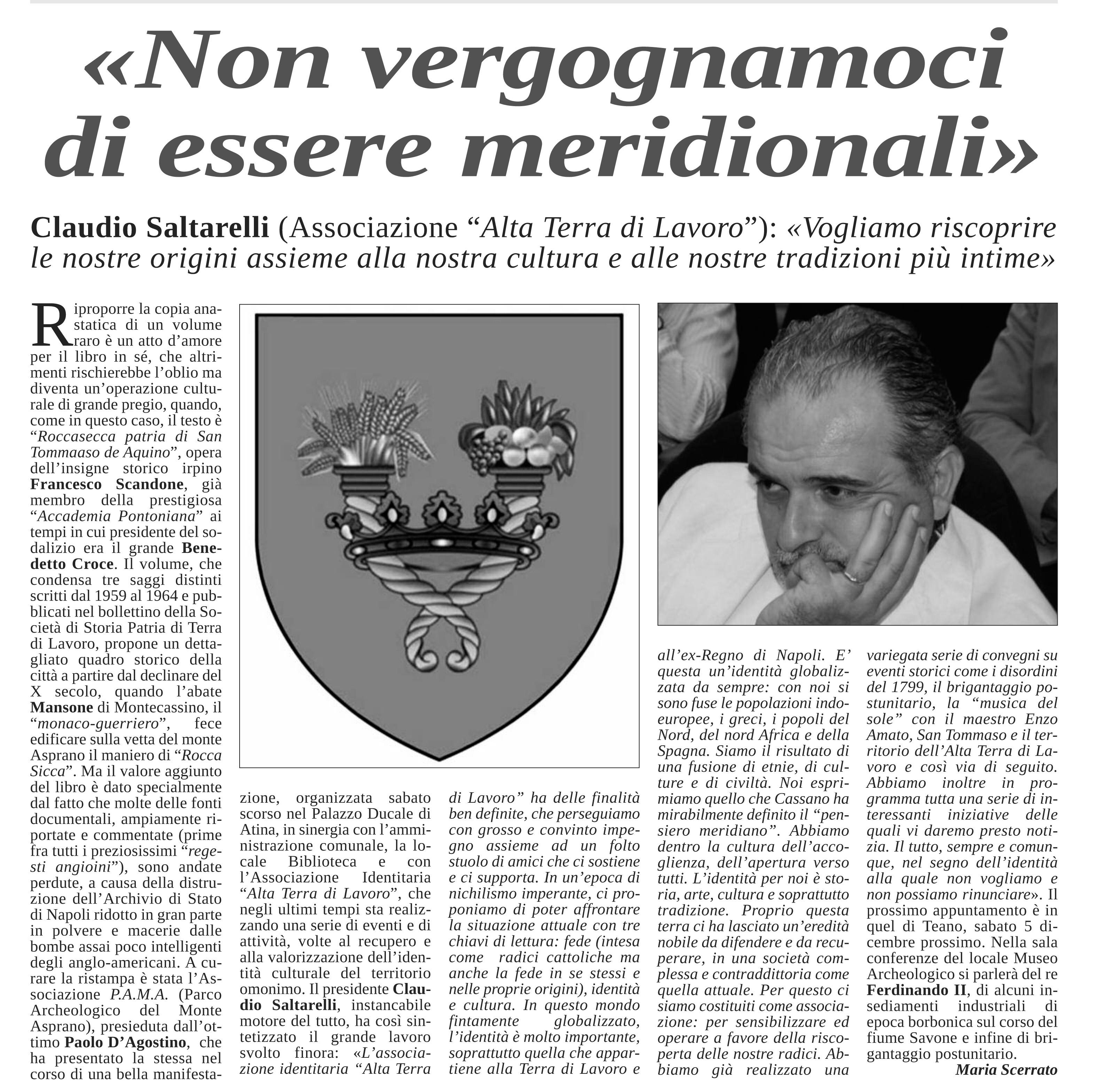 Intervista a Claudio Saltarelli
