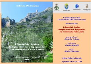ATINA PALAZZO DUCALE PRESENTAZIONE DEL LIBRO MANIFESTO 2016