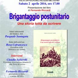 Convegno a Cerreto Sannita del 2 aprile 2016, Brigantaggio Postunitario