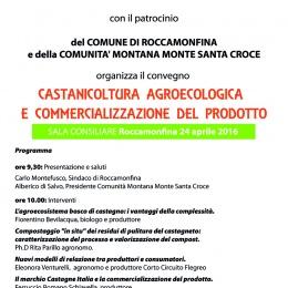 CASTANICOLTURA  AGROECOLOGICA  E COMMERCIALIZZAZIONE