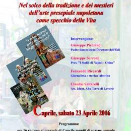 EVENTO a CAPRILE 23 APRILE Sui Misteri dei Presepi Napoletani