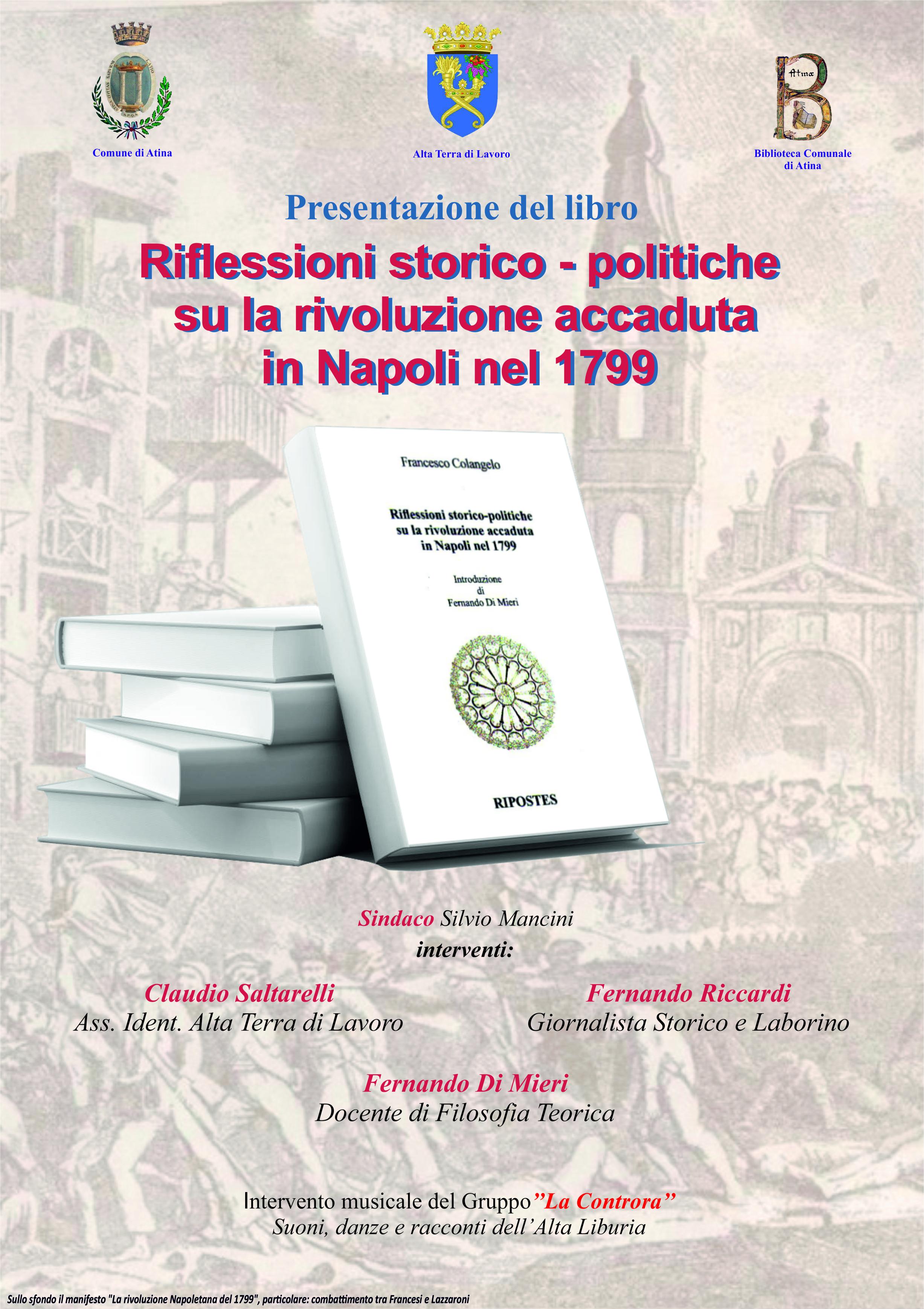 A3 MANIFESTO La rivoluzione Napoletana del 1799