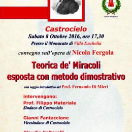 """Documento filmato del convegno """"la teorica de' miracoli di Nicola Fergola"""" presentato da Fernando Di Mieri"""