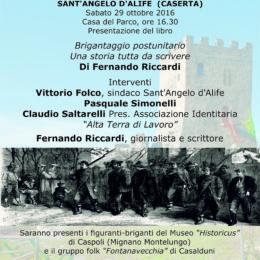 Brigantaggio Insorgente a Sant'Angelo d'Alife sabato 29 ottobre 2016