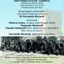 Convegno a Sant'Angelo d'Alife, 29 ottobre 2016, sul Brigantaggio Insorgente