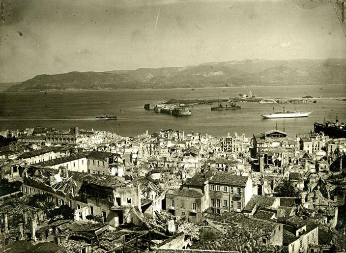 Immagine di Messina a due giorni dal rovinoso sisma del 1908