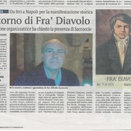 Lo studioso itrano Alfredo Saccoccio difende Fra' Diavolo