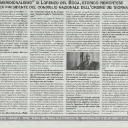 Fiore Marro intervista Lorenzo Del Boca per il giornale Il Roma