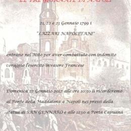 LE TRE GIORNATE DI NAPOLI  21-22-23 GENNAIO 1799
