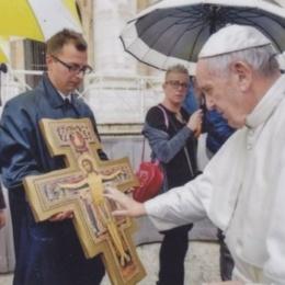 Piglio, Il Crocifisso di San Damiano accolto dalle fraternità dell'OFS locale e di Paliano