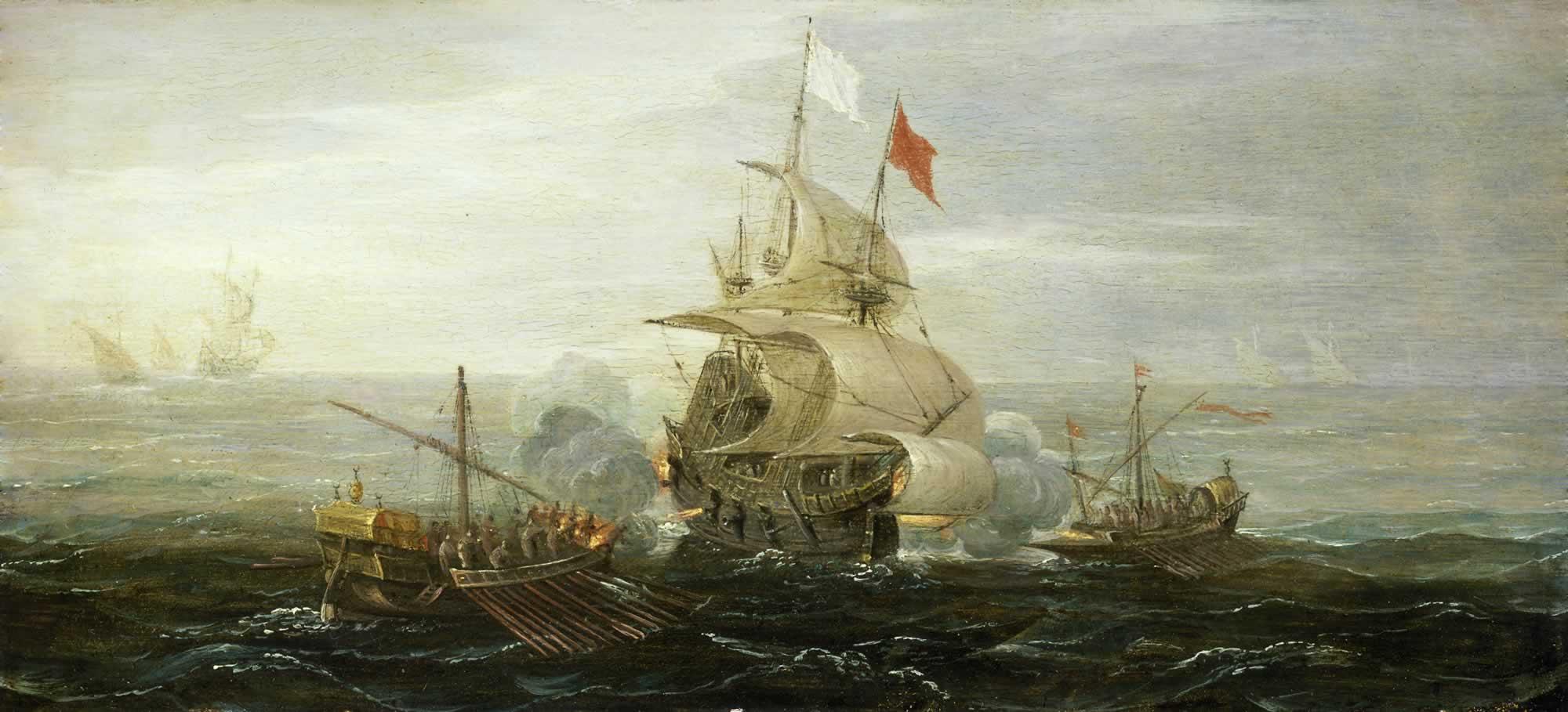 Assalto di corsari algerini a una nave francese