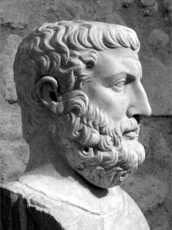 Parmenide, fondatore della scuola filosofica di Elea (oggi Ascea, nel Cilento). Troppo spesso, la scuola di Elea viene erroneamente presentata come non collegata al nostro patrimonio; la si associa, invece, solo alla Grecia.