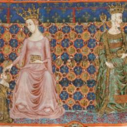 I reali Roberto d'Angiò e Sancha di Majorca.