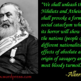 Albert Pike, Giuseppe Mazzini e le 3 Guerre Mondiali
