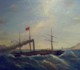 La prima nave a vapore italiana fu costruita a Napoli: La Ferdinando I