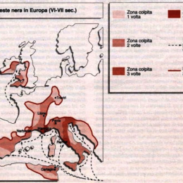 La peste nera in Europa nel VI-VII secolo.
