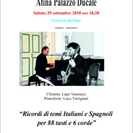 """""""Ricordi di temi Italiani e Spagnoli per 88 tasti e 6 corde"""" ad Atina"""