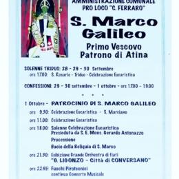 Marco di Atina, detto Galileo (… – Atina, 96), venerato come santo dalla Chiesa cattolica