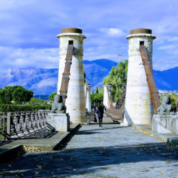 Il meraviglioso ponte sul Garigliano