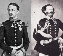 Due re a confronto in rosso e blu Vittorio Emanuele e Francesco II