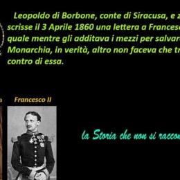 LETTERA DEL CONTE DI SIRACUSA AL NIPOTE FRANCESCO II