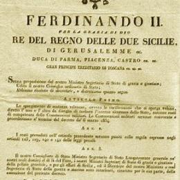 """Il """"Reddito di Cittadinanza""""? Fu inventato a Napoli nel 1831 dai Borbone."""