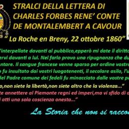 PRIMA LETTERA DEL CONTE DI MONTALEMBERT AL CONTE DI CAVOUR (Pubblicata il 28 ottobre 1861).