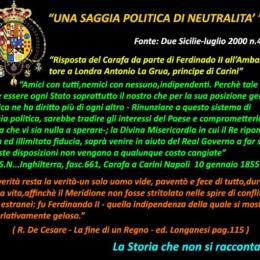 UNA SAGGIA POLITICA DI NEUTRALITÀ