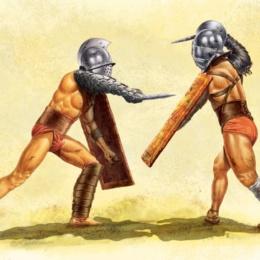 lotte tra gladiatori raccontate napulitanamente