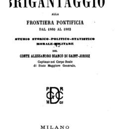 Il Brigantaggio alla Frontiera Pontificia- Tristany