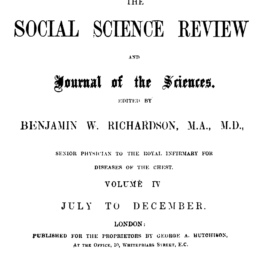From the Social Science Review of London 1 December 1865 – LETTERE NAPOLITANE