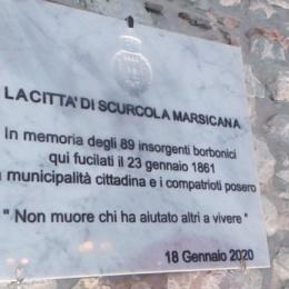 """SCURCOLA MARSICANA NON PERDE LA MEMORIA STORICA """"23 GENNAIO 1861"""""""