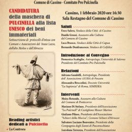 I Pulcinella nella lista Unesco dei beni immateriali, Castiglione e Schiavi spingono il progetto