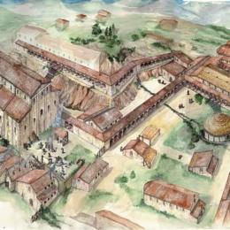 Evoluzione del complesso monastico nel IX secolo di San Vincenzo a Volturno