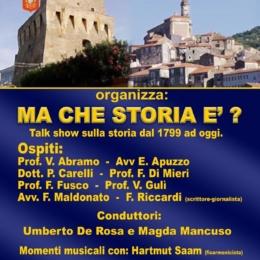 """""""MA CHE STORIA E?'"""" TALK SHOW STORICO A VILLAMARE DI VIBONATI"""